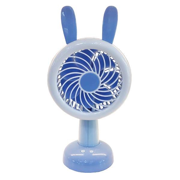Rechargeable Fan With Led Light Stand Blue Ajf 5508b Light Hub