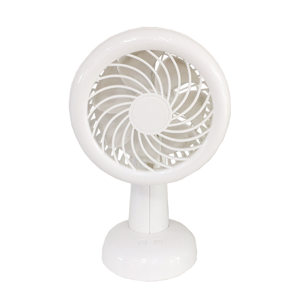 Rechargeable Fan With Led Light Stand White Ajf 5508w Light Hub